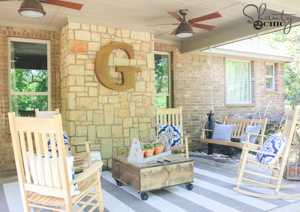 Wayfair Back Patio Makeover! - Shanty 2 Chic