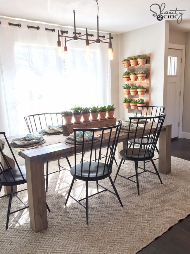 DIY Modern Farmhouse Table as seen on HGTV Open Concept Shanty 2 Chic