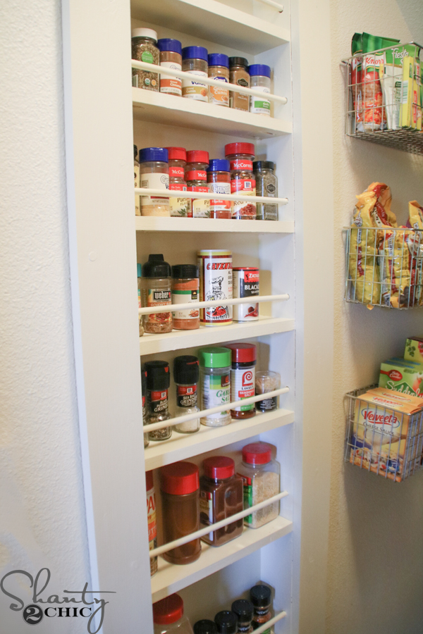Diy Built In Spice Rack Free Plans And Tutorial Shanty
