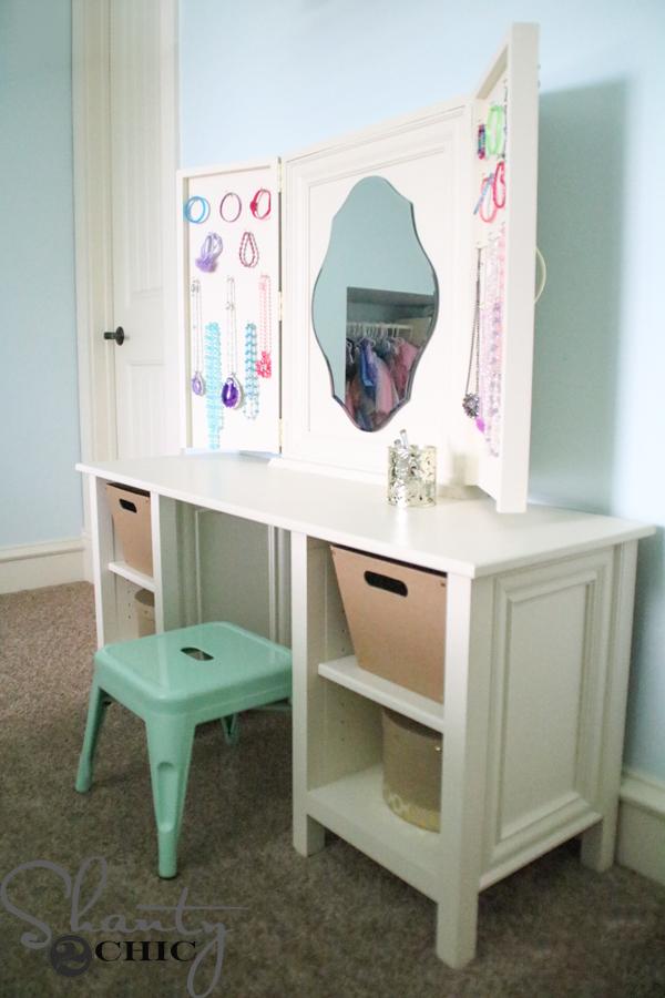 diy vanity for little girl. DIY Wooden Vanity Kids  Shanty 2 Chic