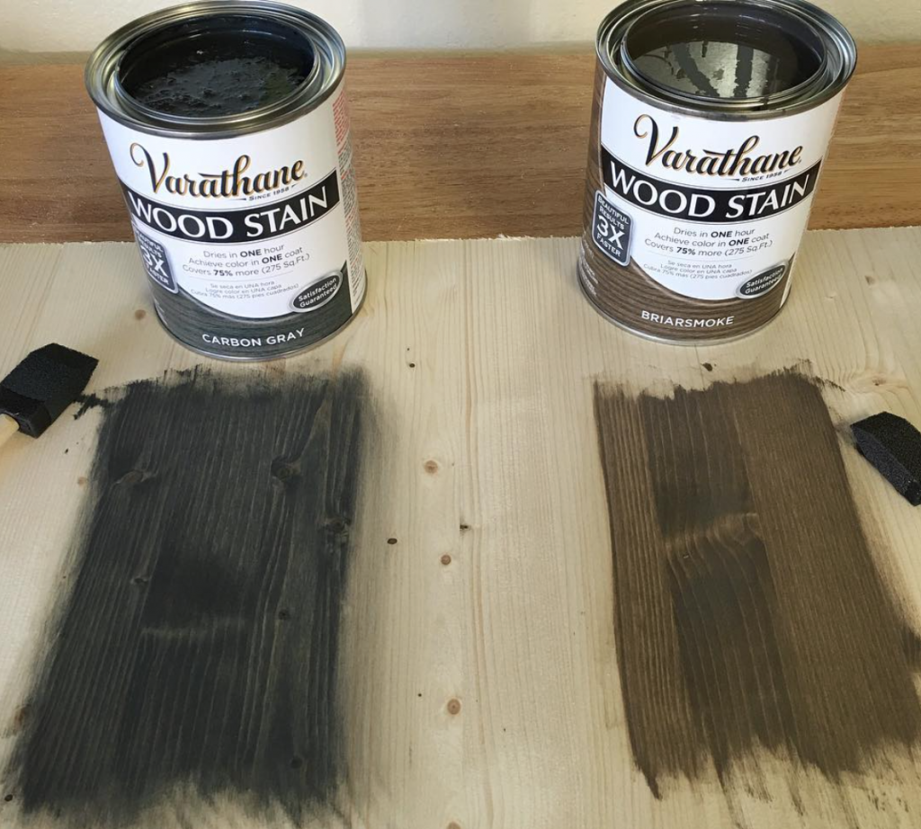 The Perfect Grey Wood Stain: DIY Floating Storage Nightstand