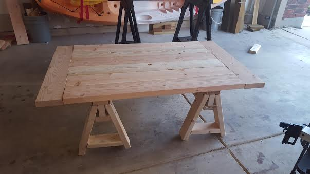 Sawhorse Coffee Table Shanty 2 Chic