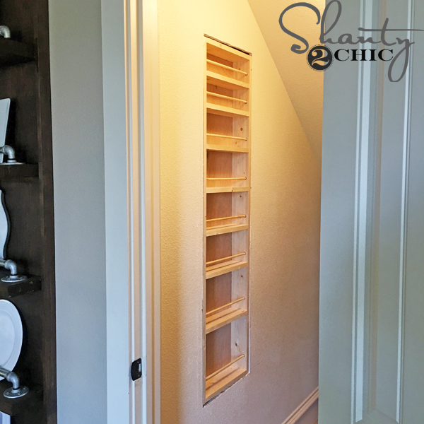 DIY Built-in Spice Rack - Free Plans and Tutorial - Shanty 2 Chic
