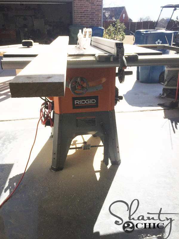 DIY Industrial Farmhouse Table