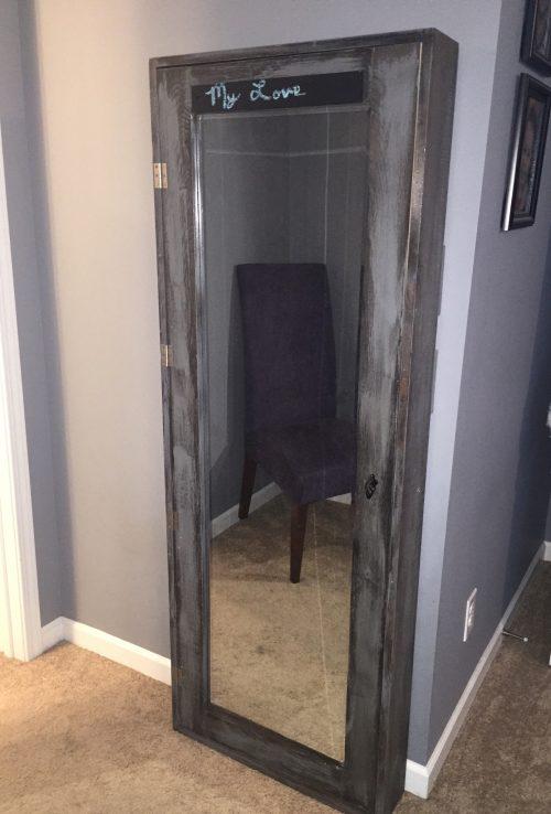 Bathroom Mirrors Storage diy bathroom mirror storage case - shanty 2 chic