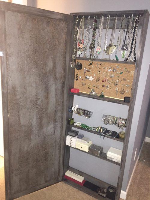 Bathroom Mirror Storage diy bathroom mirror storage case - shanty 2 chic