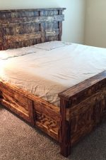 Woodburned King Size Bed