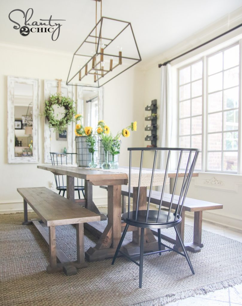 Diy pottery barn inspired dining table for 100 shanty 2 for 100 chair design