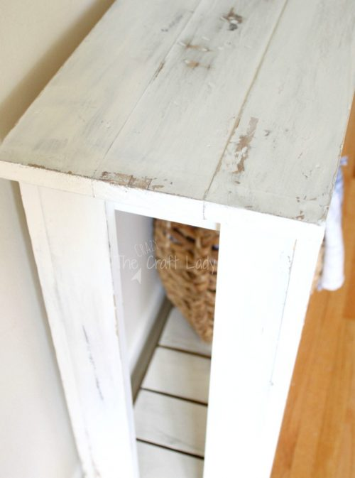 Diy sofa table farmhouse style shanty 2 chic for Sofa table tutorial