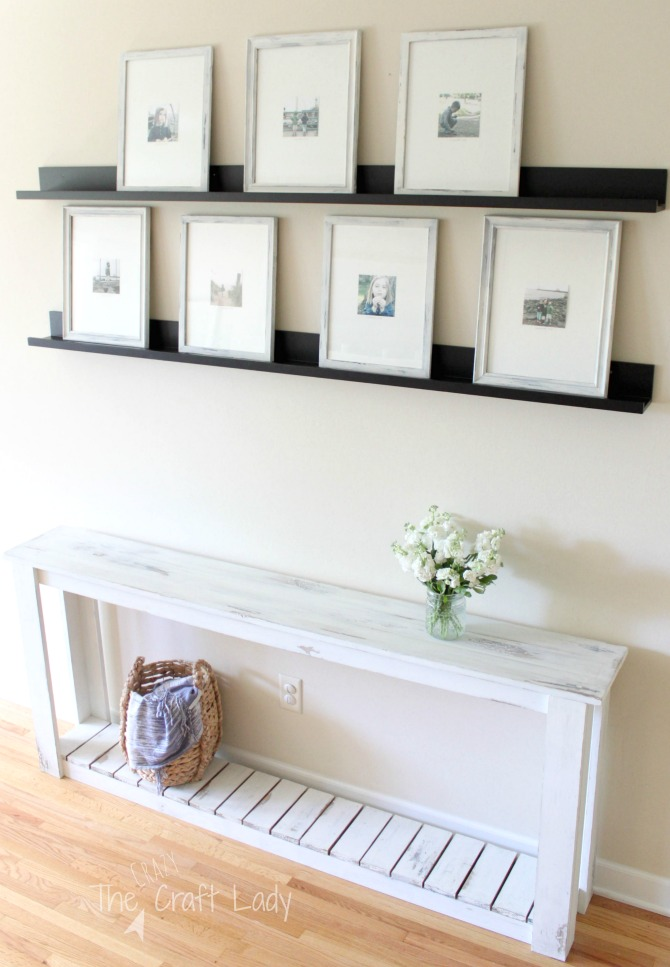 DIY Sofa Table Farmhouse Style