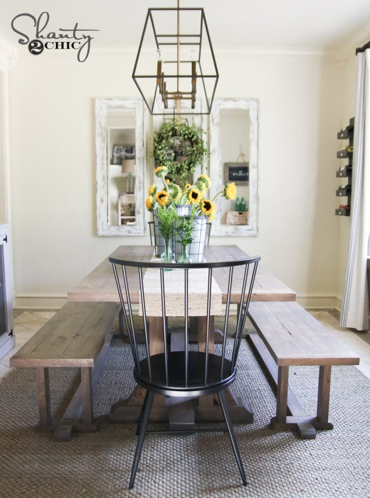 diy pottery barn inspired dining table for 100 shanty 2 free farmhouse dining table plans decor and the dog