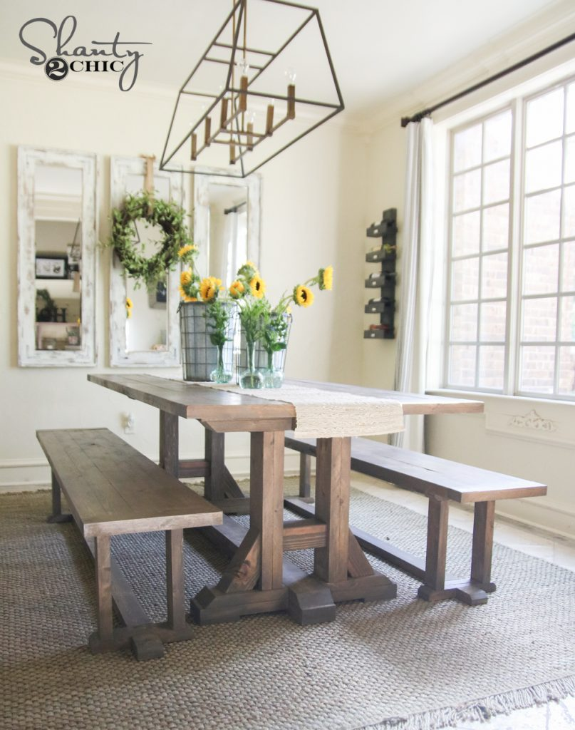 DIY Pottery Barn Inspired Dining Table for $100 - Shanty 2 Chic