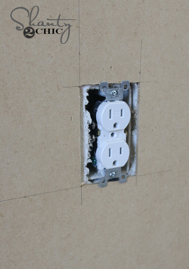 cut around outlets