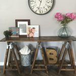 Saw horse console table