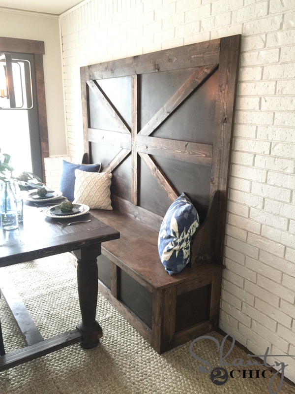 Elegant Diy High Back Dining Bench