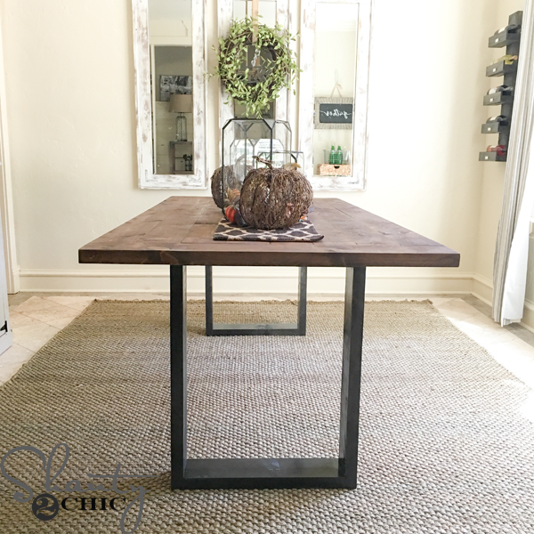 Diy Rustic Modern Dining Table Shanty 2 Chic