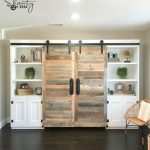Hidden Study with Sliding Barn Doors as seen on HGTV's Open Concept