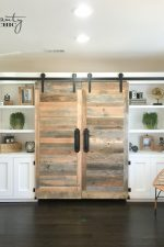 Hidden Study with Sliding Barn Doors as seen on HGTV's Open Concept