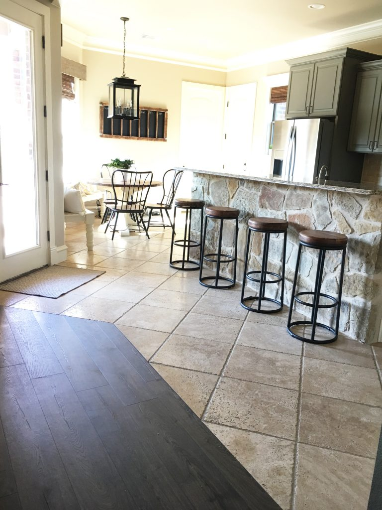 Break Room Flooring : Laminate flooring in my kitchen shanty chic
