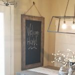 DIY Hanging Chalkboard & YouTube Video Tutorial!