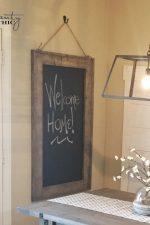 DIY Hanging Chalkboard & YouTube Video Tutorial!