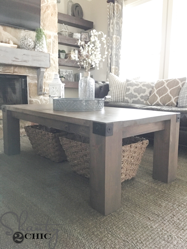 Diy Industrial Farmhouse Coffee Table
