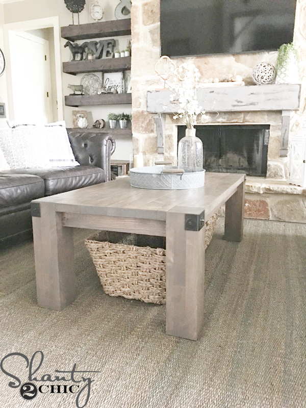 Modern farmhouse coffee table and how to video shanty 2 chic for Modern farmhouse coffee table