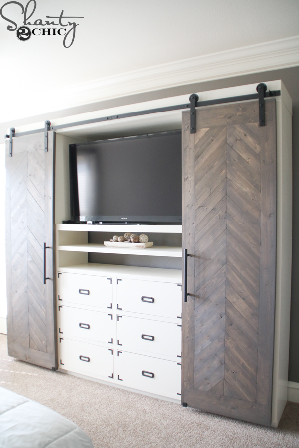 diy-sliding-barn-door-media-console & Sliding Barn Door Media Console - Shanty 2 Chic