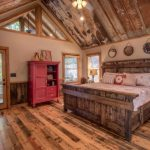Custom King Bed at Mountain Cabin