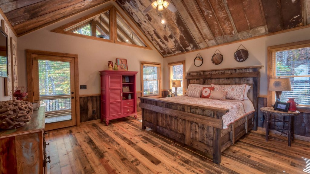 Custom King Bed at Mountain Cabin - Shanty 2 Chic