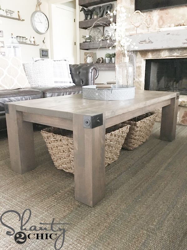 Modern Farmhouse Coffee Table Diy