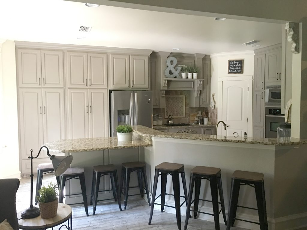 I Have Floor To Ceiling Cabinets Behind The Peninsula That I LOVE. Those  Are One Of Those Things I Knew I Would Not Be Changing! These Have Been  Great For ...
