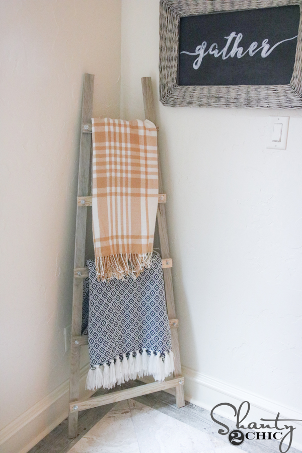 We Added A Couple Of Cute Blankets And Called It A Day We Love Blanket Ladders Because They Are Not Only Functional But They Are A Great Way To Add Texture