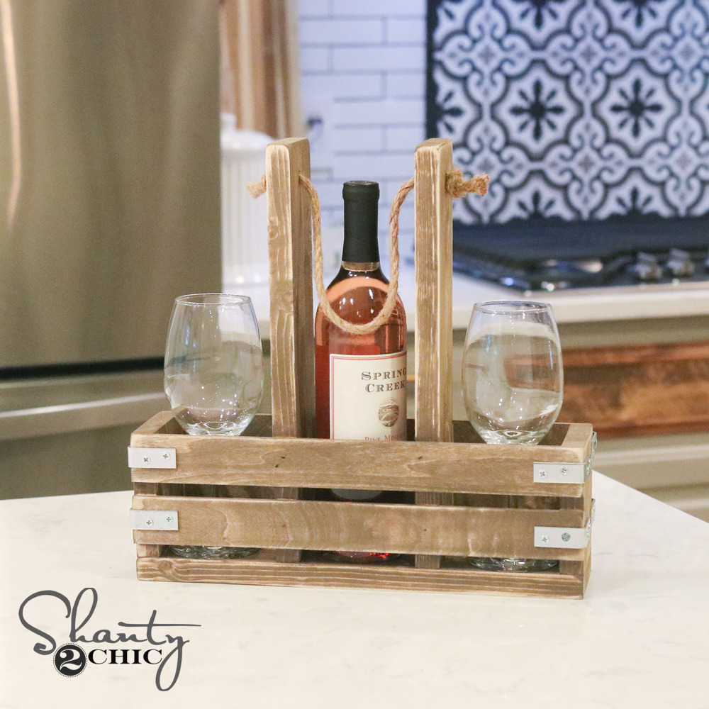 Diy wine caddy and youtube video shanty 2 chic for Wine diy projects