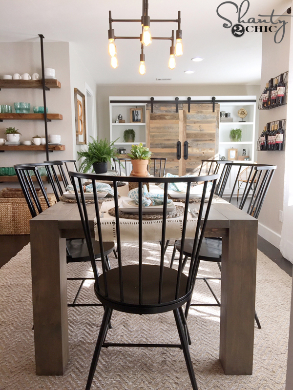 Click The Images Below For The Free Plans And More Pictures! Sliding Barn  Door Study · Modern Farmhouse Dining Table