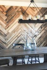 DIY Barn Wood Herringbone Wall Treatment and a Giveaway!
