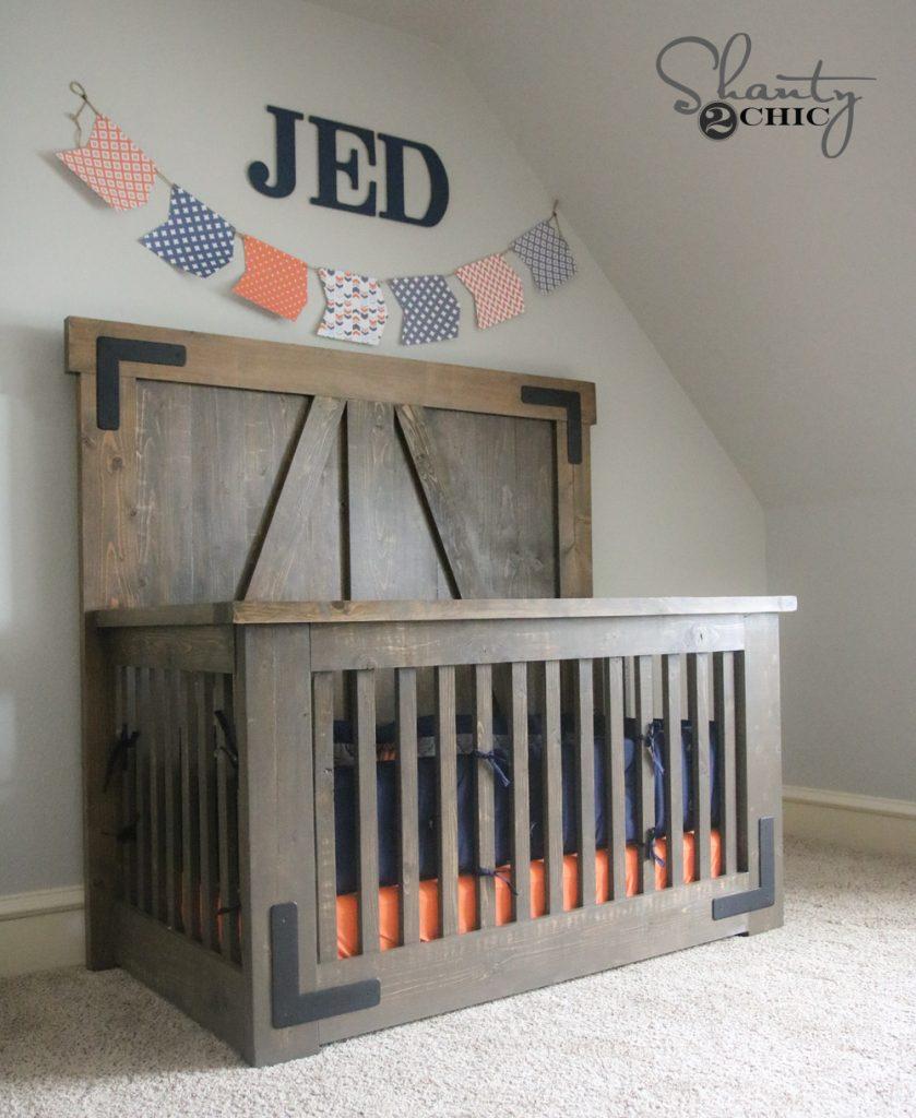 Diy Farmhouse Crib Free Tutorial And Plans Shanty 2 Chic