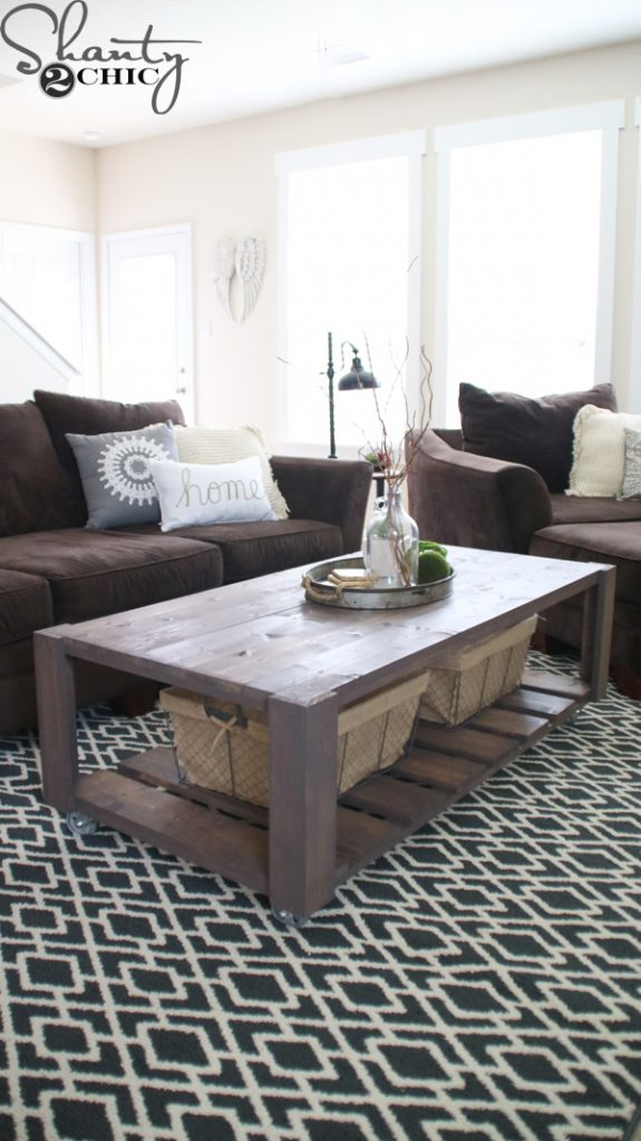 how to build a crate coffee table