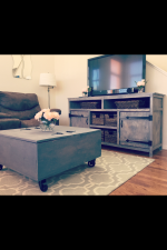 Media Console and Storage Coffee Table