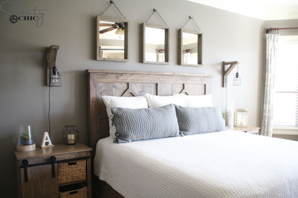 Diy Rustic Modern King Bed Shanty 2 Chic