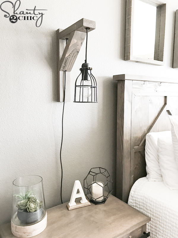 Diy corbel sconce light for 25 shanty 2 chic i decided to combine our favorite diy rustic corbel with a cute cage light to create this diy corbel light sconce this is such a fun and easy project for aloadofball Choice Image