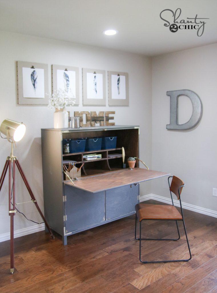 Diy Flip Top Secretary Desk As Seen On Hgtv Open Concept