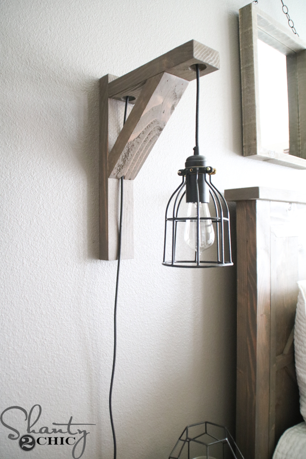 Diy corbel sconce light for 25 shanty 2 chic for Diy wall lighting