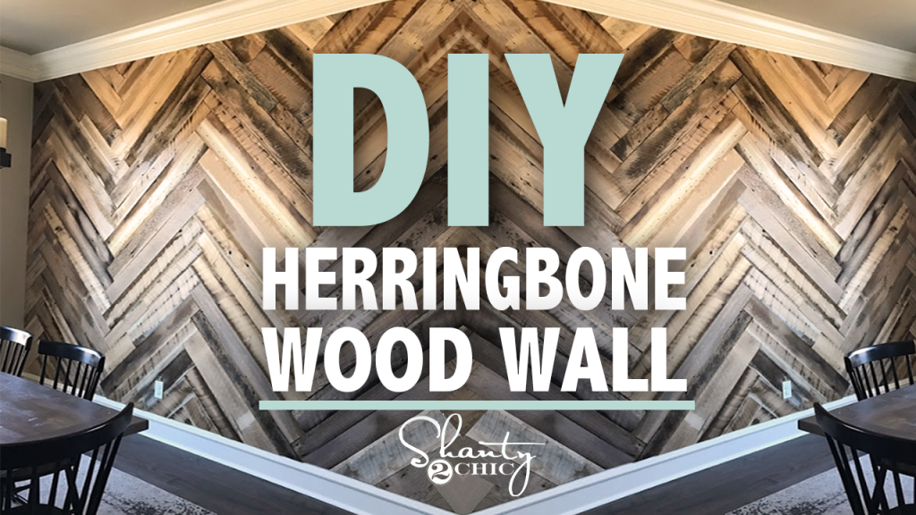 Diy Barn Wood Herringbone Wall Treatment And A Giveaway