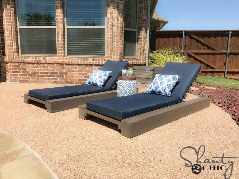 DIY Outdoor Lounge Chair and How-to Video - Shanty 2 Chic