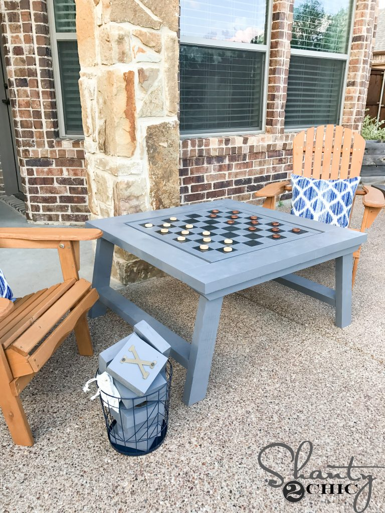 diy outdoor game table shanty 2 chic. Black Bedroom Furniture Sets. Home Design Ideas