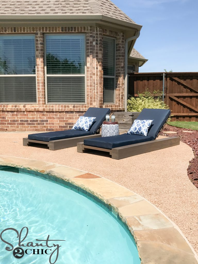 Outdoor Lounge Diy Outdoor Lounge Chair And How To Video Shanty 2 Chic