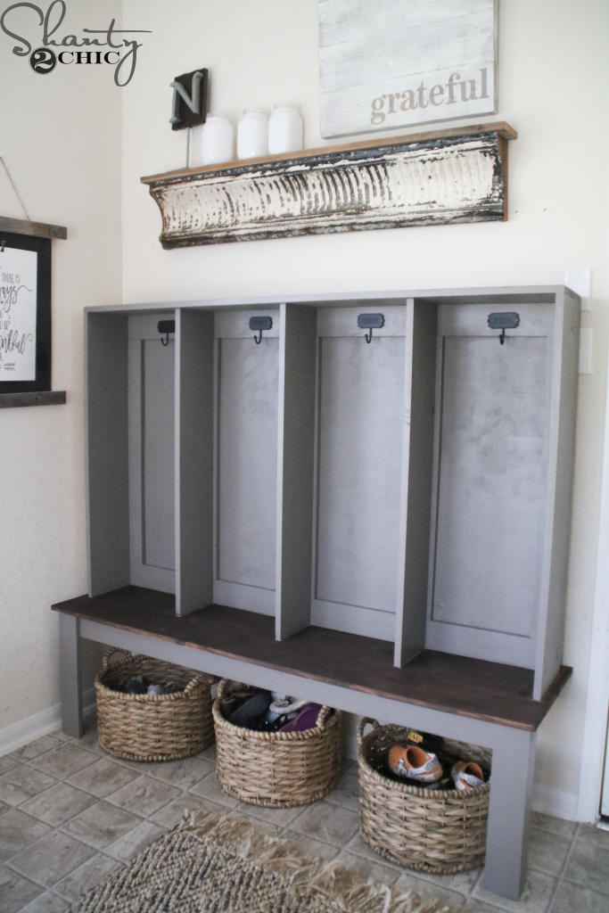 Diy Wall Locker With Built In Bench Shanty2chic