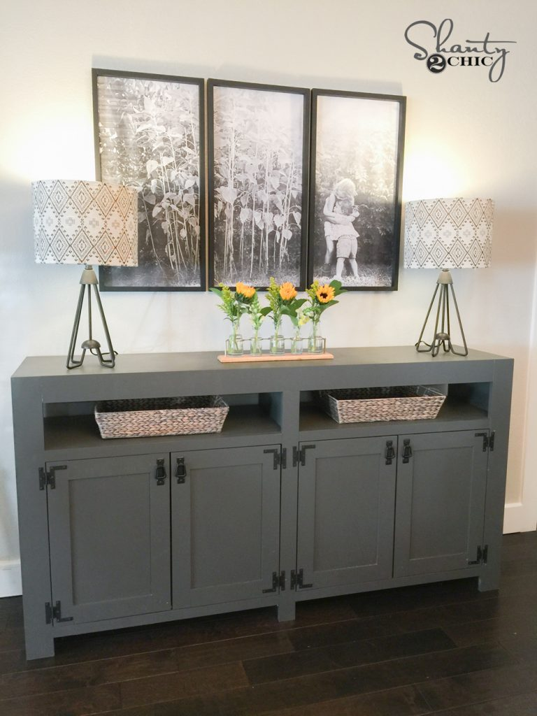 Diy Modern Farmhouse Media Console Table Shanty 2 Chic