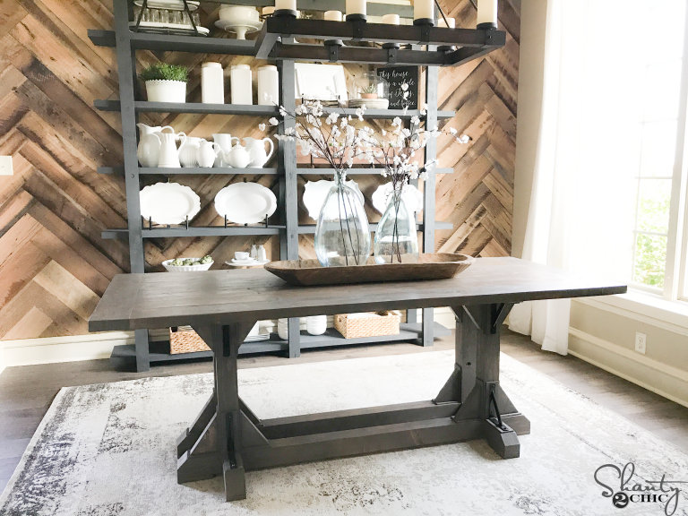 There Are A Few Features That I LOVE About This Table The First Is Obviously Mix Of Wooden And Metal Corbels It Gives Such Rustic Industrial